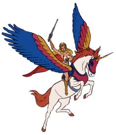 I remember having a temporary tattoo just like this.  Love She-Ra.