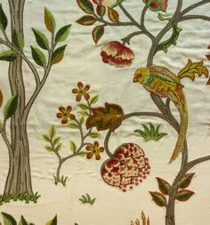 Morris and Co Archive Embroideries Kelmscott Tree Fabric Collection 230342 230342 William Morris, Victorian Fabric Patterns, Art Nouveau, Motifs Textiles, Art Chinois, Victorian Wallpaper, Art Japonais, Tapestry Fabric, Arts And Crafts Movement