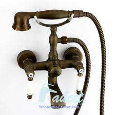 Classic Design Antique Brass Two Ceramic Handles Bathtub Faucet 5768F