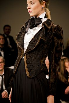 RalphLauren_Paris  embroidered embossed velvet