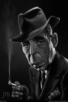 Humphrey Bogart. Caricature by Javier Martinez.