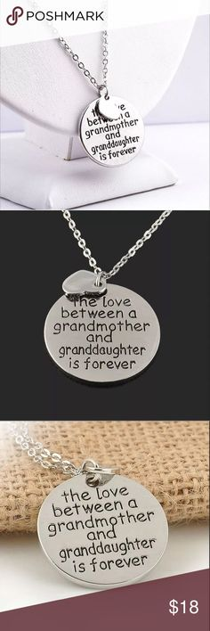 Silver Tone Grandmother & Granddaughter Necklace Silver Tone Grandmother & Granddaughter Necklace Jewelry Necklaces