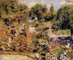 Pierre Auguste Renoir The Garden At Fontenay oil painting reproductions for sale