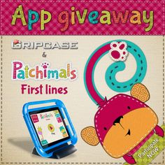 Gripcase USA is hosting a give away on Facebook, of 5 promo codes to download our app Patchimals - First lines for free!   Estamos regalando 5 promo codes para nuestra app Patchimals - First lines, de la mano de Gripcase en facebook.   #appsforkids #appsforpreschoolers #appsfortoddlers #kidsapps #kidapps #prewriting #prewritingskills #worksheets #kids #tracing #childrenapps #aplicacionesipad #aplicacionesparaniños #appsparaniños #appsniños #grafos #grafomotricidad #giveaway #free #promocodes
