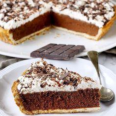 Silk Chocolate, Chocolate Pies, Love And Gelato, Cake Recipes, Dessert Recipes, Summer Pie, Cheesecake, Torte Cake, Mini Foods