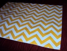 One Standard Bed Pillow Sham In Mod Yellow Chevron Zig Zag - FREE SHIPPING. $38.00, via Etsy.