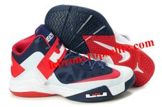 C 155 Nike Zoom LeBron Soldier 6 (VI) Olympic White Navy Red 16c7b2dc5