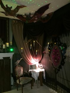 Pinner said: Haunted mansion : Madame Leota 's corner Halloween 2015 my own props