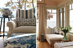 Love the colors and mixed patterns House of Turquoise: Sarah Richardson's Cottage