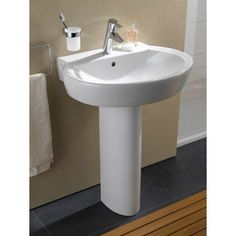 Vitra Sunrise Basin & Pedestal. Vitra Bathroom Collection is a complete range of bathroom products. Excellent quality combined with real value, provides a recipe for success for the retailer and the consumer alike. http://www.dealsonbathrooms.co.uk/vitra-sunrise-basin-pedestal.html#.VA64v_mwJKU