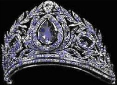 "The ""Ceylon Sapphire Diadem"" , a favorite of Tsarina Alexandra Feodorovna- made during the reign of Tsar Paul I"