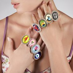 Graphic bracelets and rings