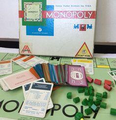 Vtg Square Monopoly Austria Piatnik Wien Lizenz Parker Brothers RARE Incomplete
