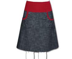 Midiröcke - Jeansrock ROSINA blau-schwarz, viele Farben - ein Designerstück von julia_rau bei DaWanda