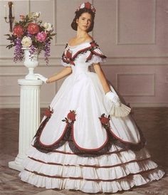 Simplicity 5724 Civil War Ball Gown Dress PATTERN GWTW