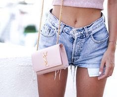 Image about girl in ● Fashion - موضة ● by silentlysuffering Fashion Bags, Fashion Outfits, Womens Fashion, Pink Fashion, Pretty Outfits, Cute Outfits, Ysl Handbags, Ootd, Summer Looks