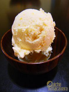 sorvete de limão siciliano com leite de coco e creme de leite fresco | Quiche de Macaxeira