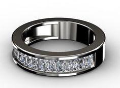 Diamant Ehering Sehnsucht, 750er Weißgold 18 Karat