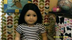 My first ever American girl doll, in her first bedroom, I had only just got my camera when I took this one...