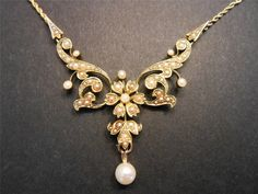 Antique Jewellery - Page 31 - The UK's Largest Antiques Website Pearl Jewelry, Jewelry Art, Gold Jewelry, Jewelry Design, Pearl Necklaces, Gold Necklace, Edwardian Jewelry, Antique Jewelry, Vintage Jewelry