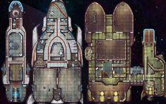 Starfinder Starship Flipmat, Damien Mammoliti on ArtStation at https://www.artstation.com/artwork/eN1eb