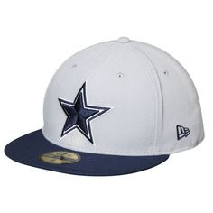 c6f144227 Dallas Cowboys New Era Omaha II 59FIFTY Fitted Hat - Gray Navy
