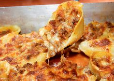 cheesy, beefy stuffed shells