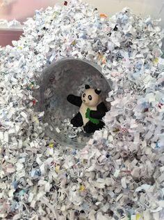 shredded paper sensory bin