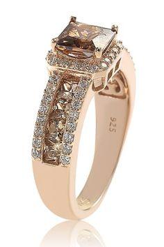 Bling Jewelry, Vintage Jewelry, Jewellery, Chocolate Diamond Wedding Rings, Wedding Bedroom, Suzy, Bridal Rings, Princess Cut, Rose Gold Plates