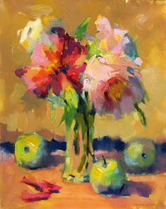 Pink Peony Painting by Trisha Adams