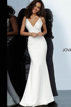 Jovani 67857 Backless Fitted Prom Red Satin Prom Dress, Satin Bridesmaid Dresses, Prom Dresses Jovani, Dress Red, Pageant Gowns, Bridesmaids, Structured Wedding Dresses, Sexy Wedding Dresses, White Prom Dresses