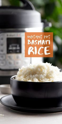 Learn how to make perfectly fluffy, tender, and fragrant Basmati rice in the Instant Pot every single time with this quick and easy recipe! Cheap Healthy Lunch, Healthy Meal Prep, Healthy Dinner Recipes, Real Food Recipes, Vegan Recipes, Free Recipes, Easy Crockpot Soup, Basmati Rice Recipes, Instant Pot Dinner Recipes