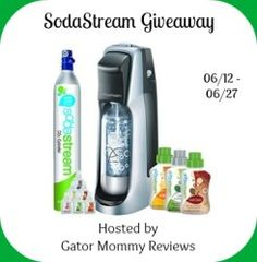 SodaStream Giveaway Sponsored by SodaStream Hosted by Gator Mommy Reviews Make your own soda with a SodaStream. In less than 30 seconds, you can turn tap water into carbonated water. Just add the flavoring of your choice for your own homemade soda. SodaStream Fountain Jet Soda Lover's Start Up Kit