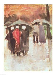 In the Rain, 1882, Vincent Van Gogh