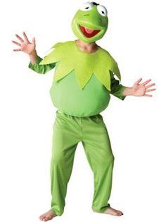 Strój Kermita uświetni urodziny dziecka nawiązujące do Muppetów :)