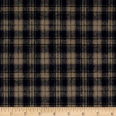 Yarn Dyed Flannel Plaid Navy Khaki from @fabricdotcom  This soft double napped (brushed on both sides) lightweight (4.5 oz per square yard) flannel is perfect for shirts, loungewear and more! Features a yarn dyed plaid of navy, black and khaki. Remember to allow extra yardage for pattern matching.