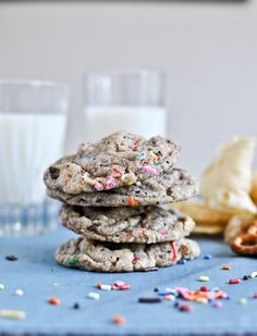 crazy confetti compost cookies.