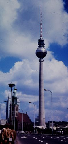 Marian Church and TV Tower, East Berlin