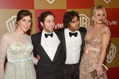 Mayim Bialik, Simon Helberg, Kunal Nayyar, & Kaley Cuoco:::great team of actors:::