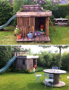 Der Sommer ist voller Spaß. 21 coole Paletten-Inspirationen, mit denen Kinder die Langeweile in den Ferien loswerden. | CooleTipps.de