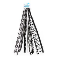 Ajuste de blanco y negro - blanco y negro de la cinta las piezas piezas decorativas - varias piezas decorativas - valor paquete ajuste - ajuste de valor - blanco y negro