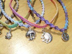 Custom made multicolored hemp necklace grateful dead by HempHugs
