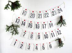 Deko und Accessoires für Weihnachten: Adventskalender made by renna deluxe via DaWanda.com