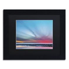 "Trademark Art ""Last Light"" by Chris Moyer Framed Photographic Print Size: 1"