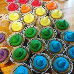 A selection of the cupcakes for this weekend's wedding based around the colours of the pride flag for Kirsten and Emily's big day. The room looked gorgeous when I left so colourful and happy  #pride #wedding #rainbow #cupcakes #reallyyummycakes #cakedesigner #bespokecakes #hampshirecakes #winchestercakes #cakes #winchester #hampshire #designercakes #designinspiration #designprocess #ryfb