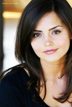 Jenna coleman aka Clara. She's too pretty, and I love her makeup