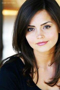Jenna coleman aka Clara. She's too pretty, and I love her makeup