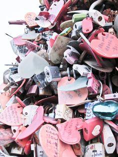 couple locks in korea Nam San Tower - courtesy of All Love Us