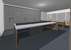 Pinel porta dos banheiros - maqueta eletronica 3D - por Cassiana Franco