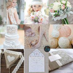 Décoration de mariage dentelle | Mariages & Turbulettes